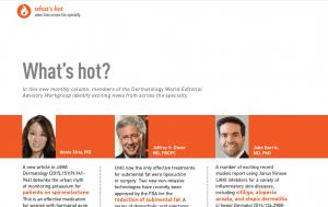 Dermatology World's new column What's Hot