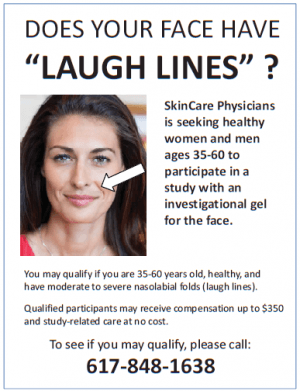 Does your face have laugh lines