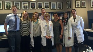 Dr. Tania Philips with residents at Duke University