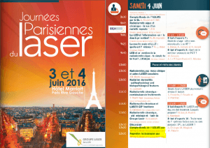 Journees Parisiennes du Laser program