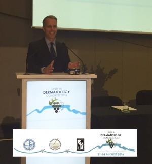 Dr Tom Rohrer speaking at South Africa Dermatology Congress