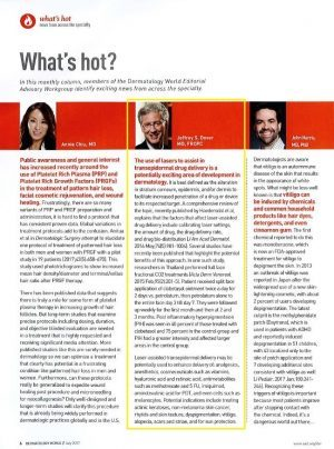 What's Hot in dermatology July 2017