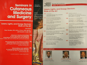 Cover of Dec 17 issue of Seminars and Cutaneous Medicine and Surgery