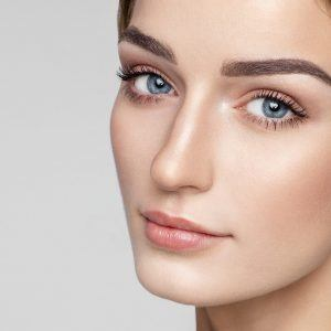 Woman with healthy youthful skin