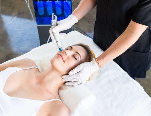 women enjoying an hydrafacial treatment
