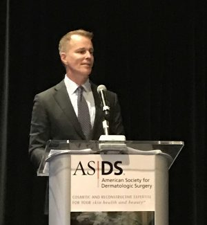 Dr. Rohrer giving a lecture on fillers at the ASDS 2019 resident cosmetic symposium