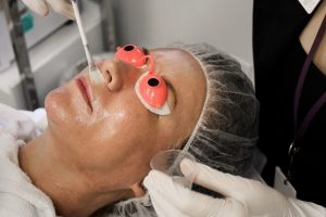 Patient having a Vitalize Peel at SkinCare Physicians' Advanced Dermatology Spa™
