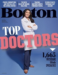 Cover of Boston Magazine's 2020 Top Doctors Jan-Feb Issue