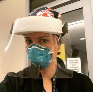 Nurse wearing PPE equipment to care for Covid-19 patients