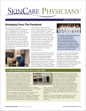 SkinCare Physicians newsletter front page