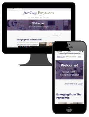 SkinCare Physicians mobile-friendly newsletter