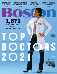 Cover of Boston Magazine 2021 Top Doctors