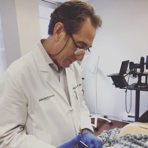 Dr. Kaminer injecting patient with new cellulite treatment
