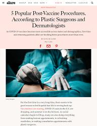 Allure article on trending cosmetic procedures post-vaccination