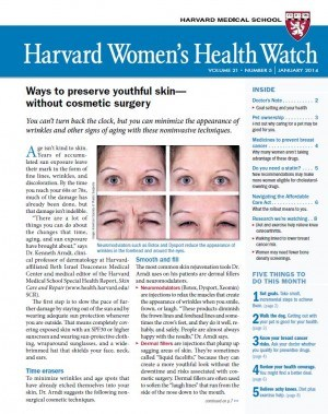 Dr. Arndt in Harvard Women's Health Watch