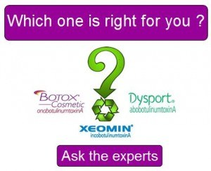 Which filler treatment is right for you: Botox, Dysport or Xeomin?