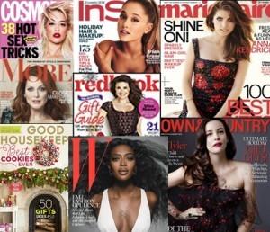 Beauty & fashion magazine covers