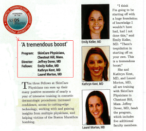 ASDS Currents Article about Fellows at Skincare Physicians - May 2014
