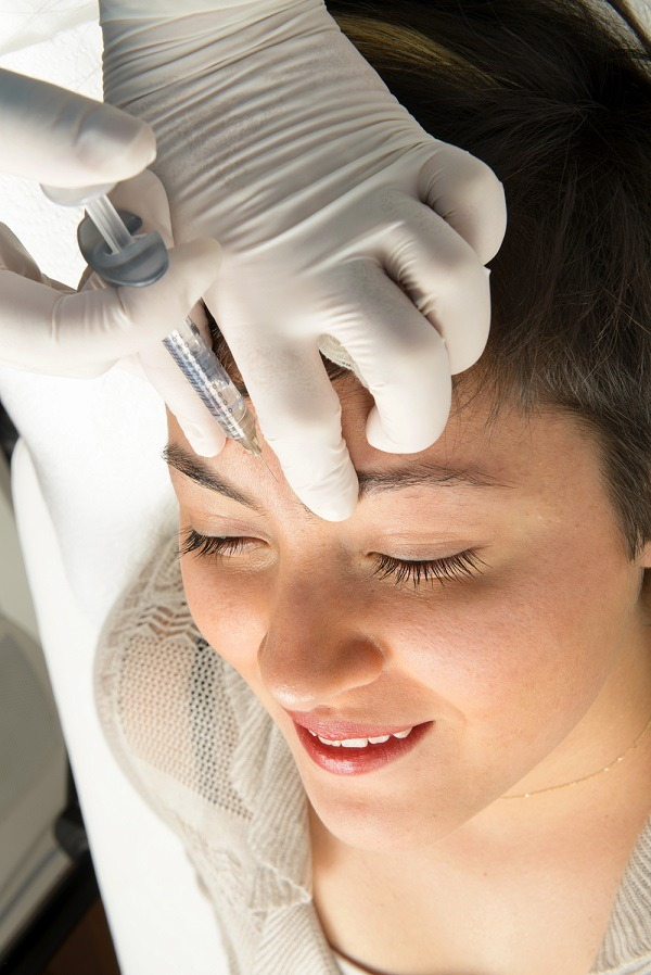 Botox injection between the eyes