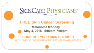 Free skin cancer screening May 5, 2015
