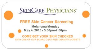 Free skin cancer screening May 5, 2015