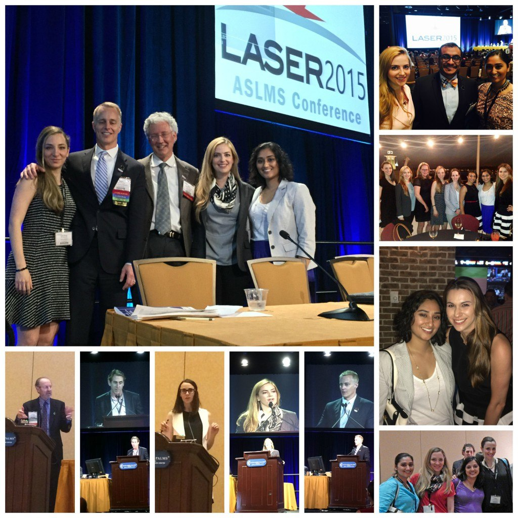 Photo collage of SkinCare Physicians at ASLMS Laser 2015
