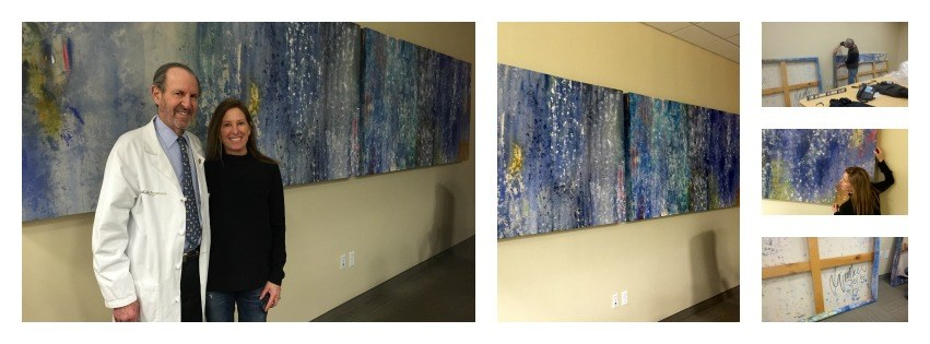 Lynette Shaw paintings at SkinCare Physicians