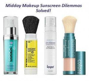 Makup products for midday sun protection